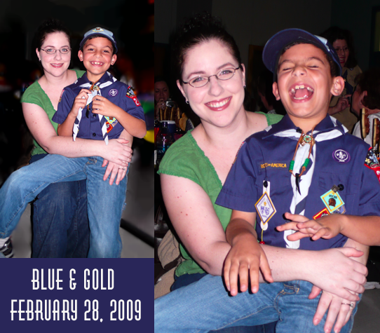 Gaetano and Angela at the Blue and Gold Banquet 2009